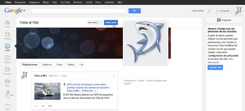 google plus, editar perfil