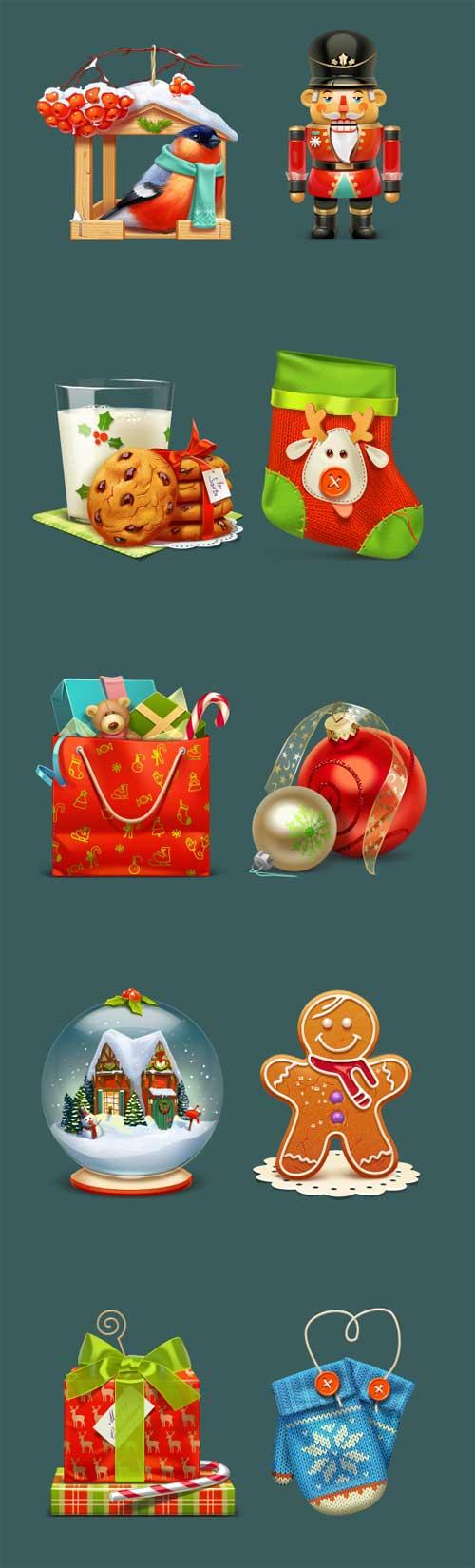 icon set Navidad