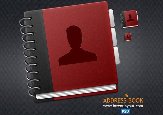 icono agenda o libreta direcciones
