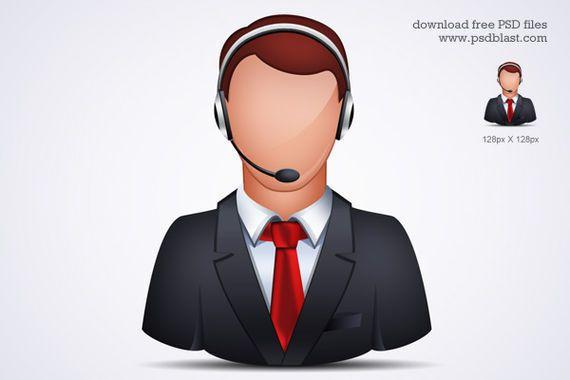 icono atención al cliente en línea