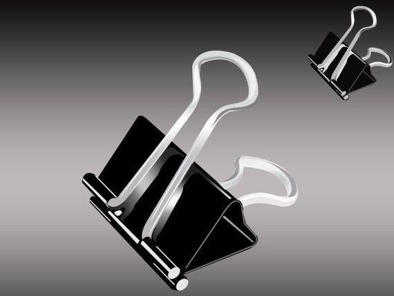 icono clip de papel grande