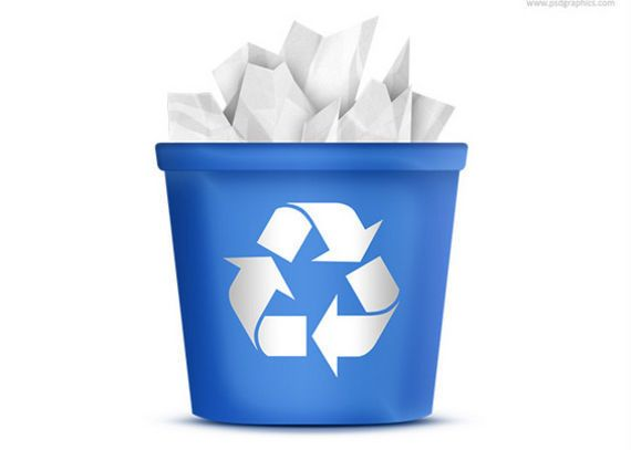 icono papelera de reciclaje