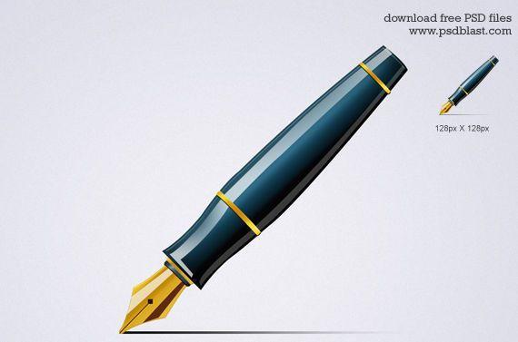 icono pluma estilográfica