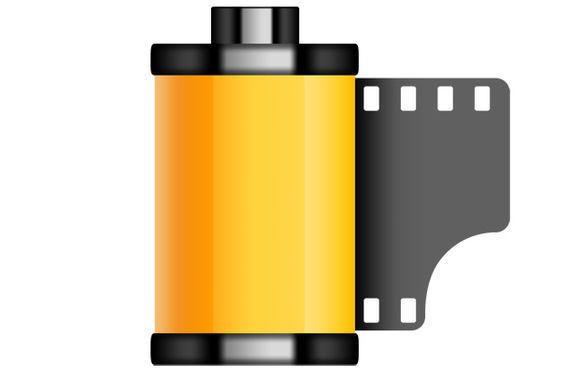 icono rollo de película antigua