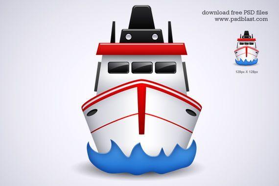 icono de transporte por barco