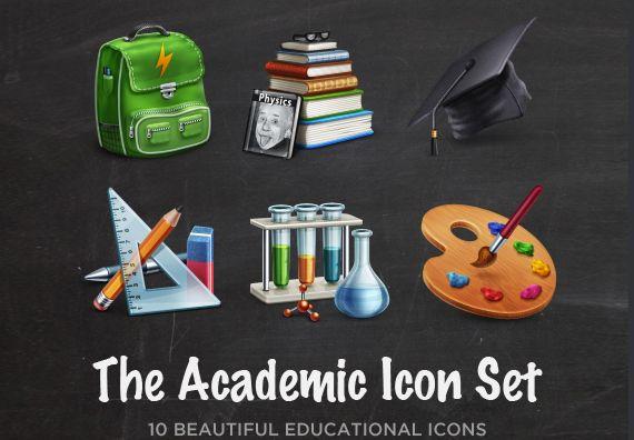 iconos academicos en alta definición