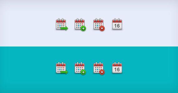 iconos calendarios pequeños