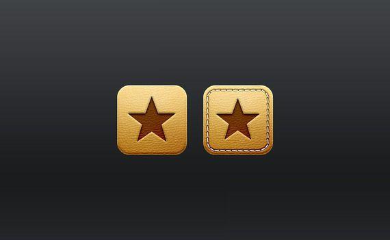 iconos estrellas de cuero