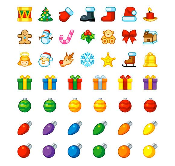 iconos fiesta de la Navidad