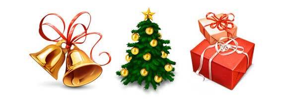 iconos Navidad alta calidad para páginas web