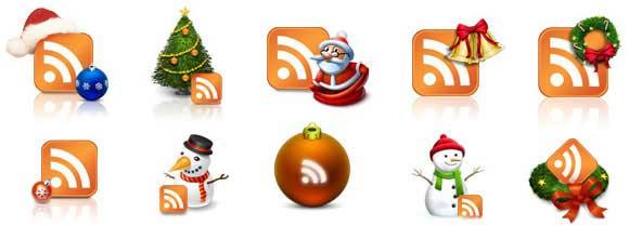 iconos RSS de Navidad
