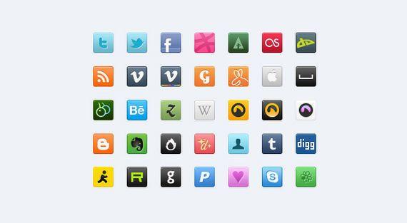 iconos sociales agradables