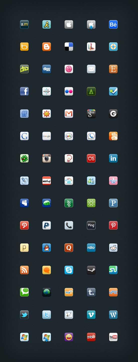 iconos sociales gratis