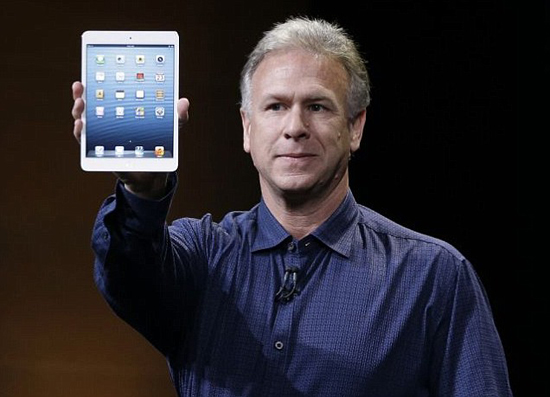 Phil Schiller en el evento de lanzamiento del iPad Mini en San Jose, California