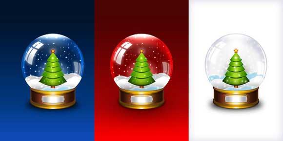 Navidad globo de nieve en PSD