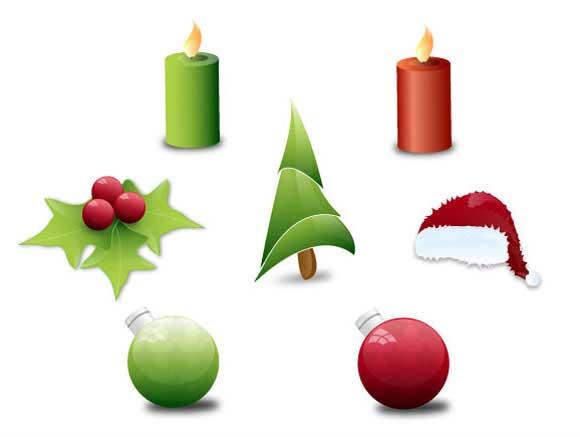 objetos de Navidad vectoriales