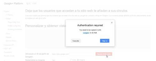 obtener el ID de Google +