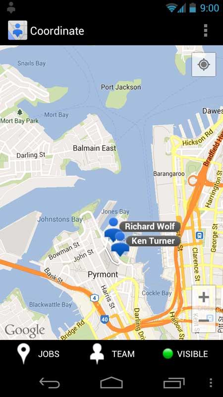 pantalla para teléfono móvil Google Maps Coordenadas
