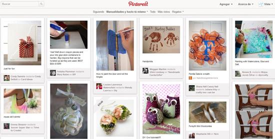 Pinterest, categoría manualidades