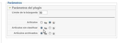 plugin buscar en contenidos Joomla