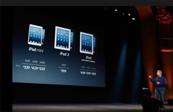 presentación del iPad mini y precios