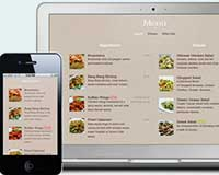sitio web móvil para restaurantes