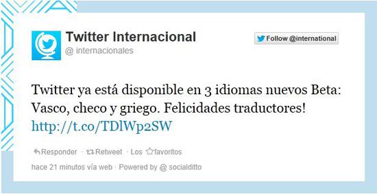 Twitter en vasco
