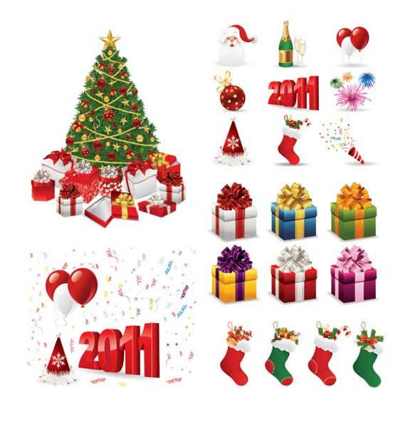 archivos vectoriales de Navidad