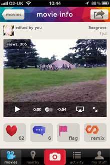 Vyclone, comparte vídeo desde el iphone