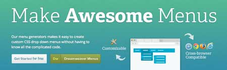 awesome CSS menus