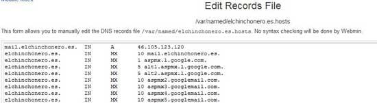 BIND zonas del servidor DNS editar