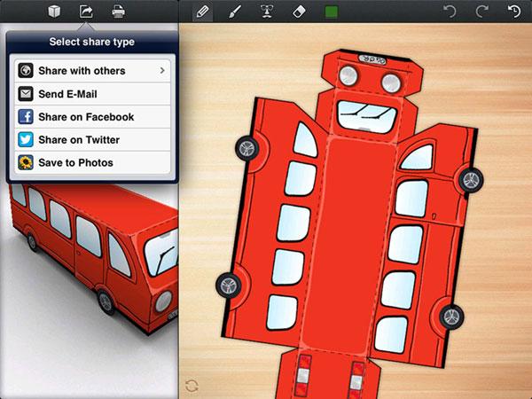 compartir recortables 3D de Foldify