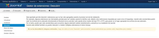 Joomla Extensiones - descubrir
