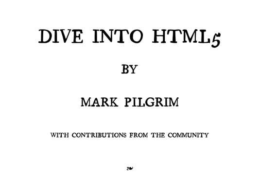 html5 dive