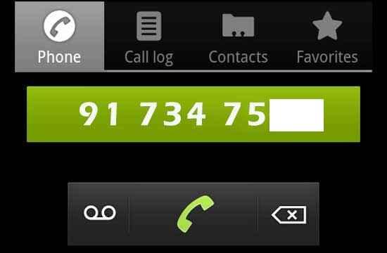 enlace a un número de teléfono desde una página web