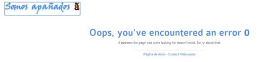 error 404 tras actualización
