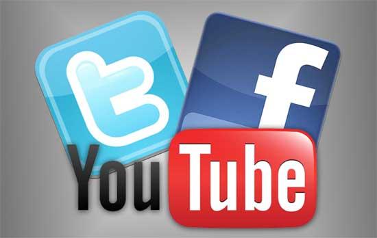 vincular cuentas de Facebook y Twitter en Youtube