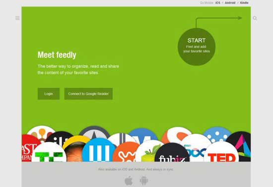 Feedly para Google Chrome - conectar