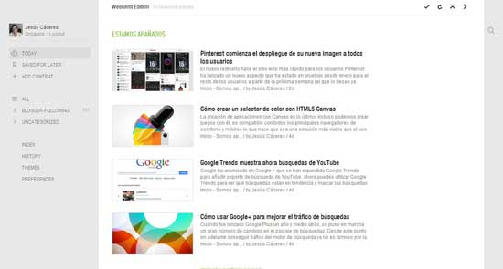 Feedly, feeds de Somos apañados
