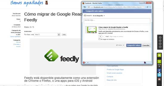 Feedly redes sociales