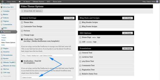 feeds de FeedBurner para WordPress