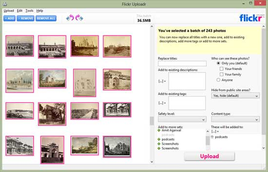 Flickr escritorio uploadr