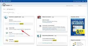 gestión de MySQL en 1&1 activada