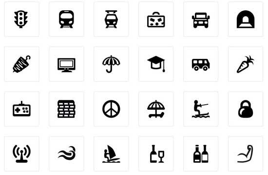 iconos para Google Maps, muestra