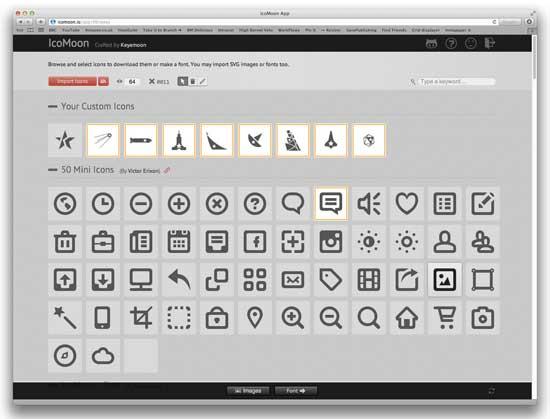 importar iconos a IcoMoon