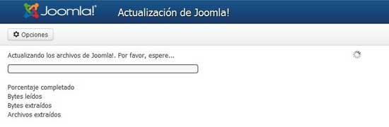 Joomla 3.1 actualización no pita