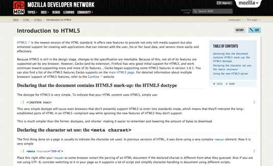 HTML5 con mozilla