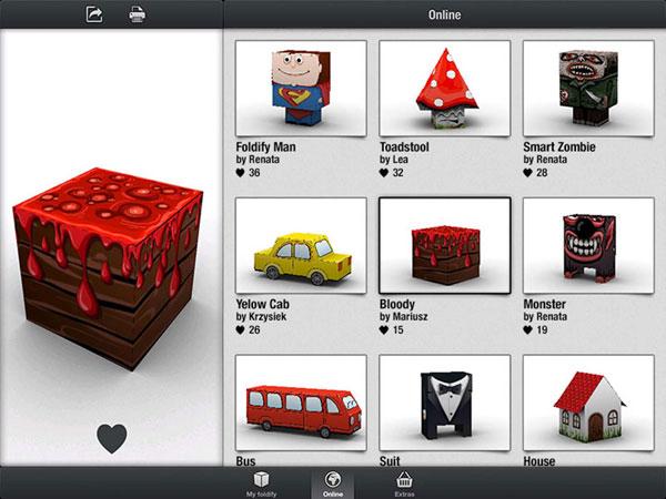 muestras en 3D con Foldify