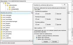 permisos archivos administrator components tags