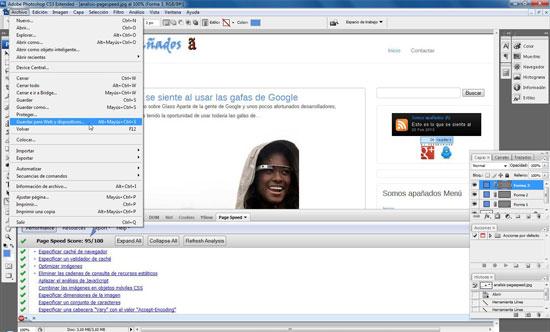 Photoshop guardar imagen para web y dispositivos